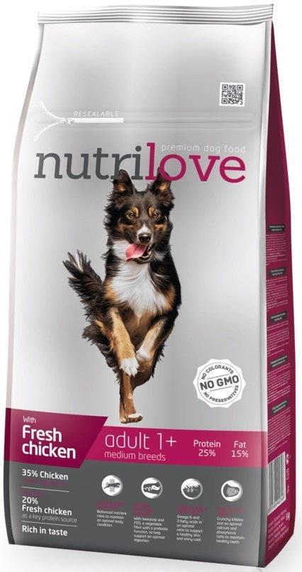 Nutrilove Premium Adult Medium - ze świeżym kurczakiem 8kg