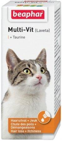 Beaphar Laveta Super Cat - preparat witaminowy przeciw nadmiernemu wypadaniu sierści dla kota 50ml