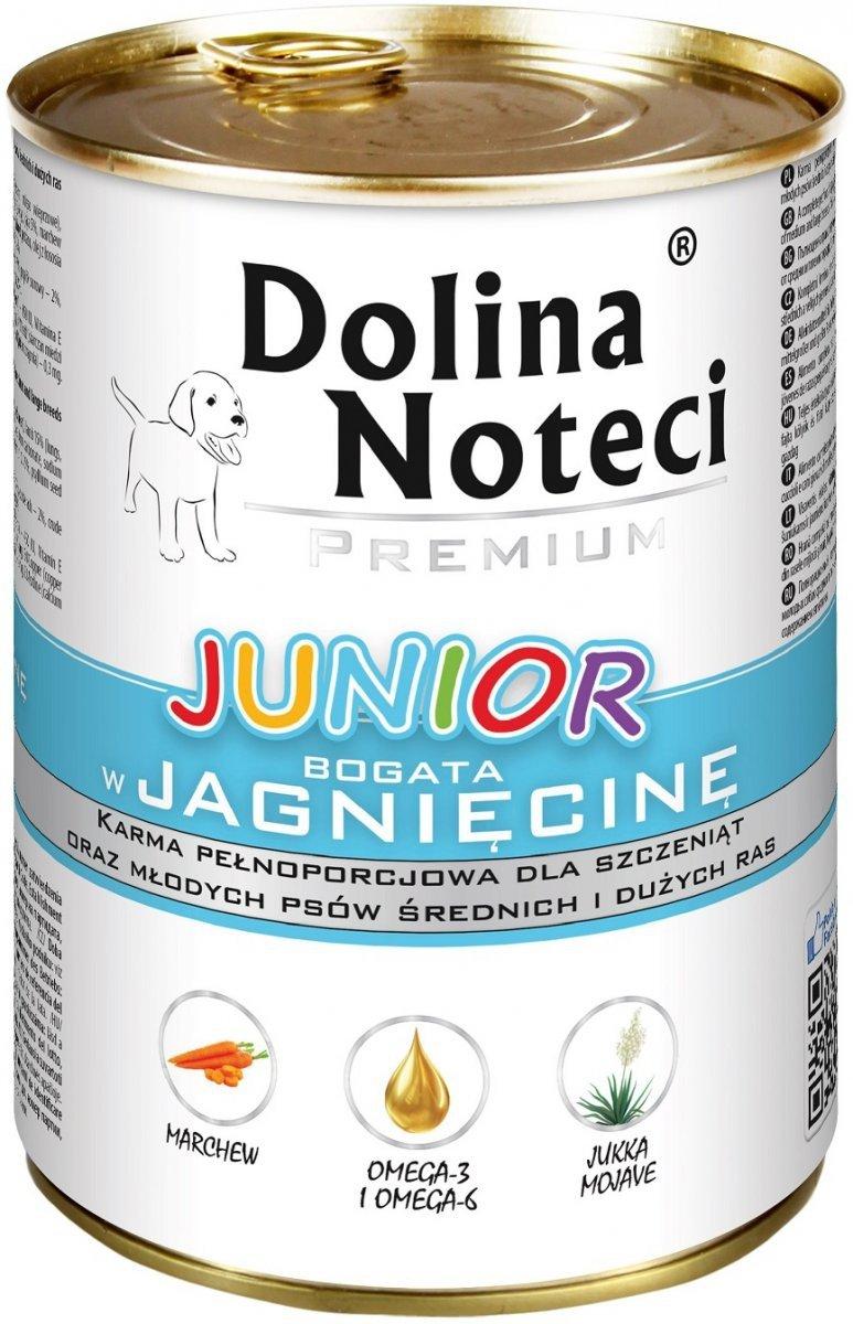 Dolina Noteci Premium Junior Bogata w jagnięcinę 12x400g