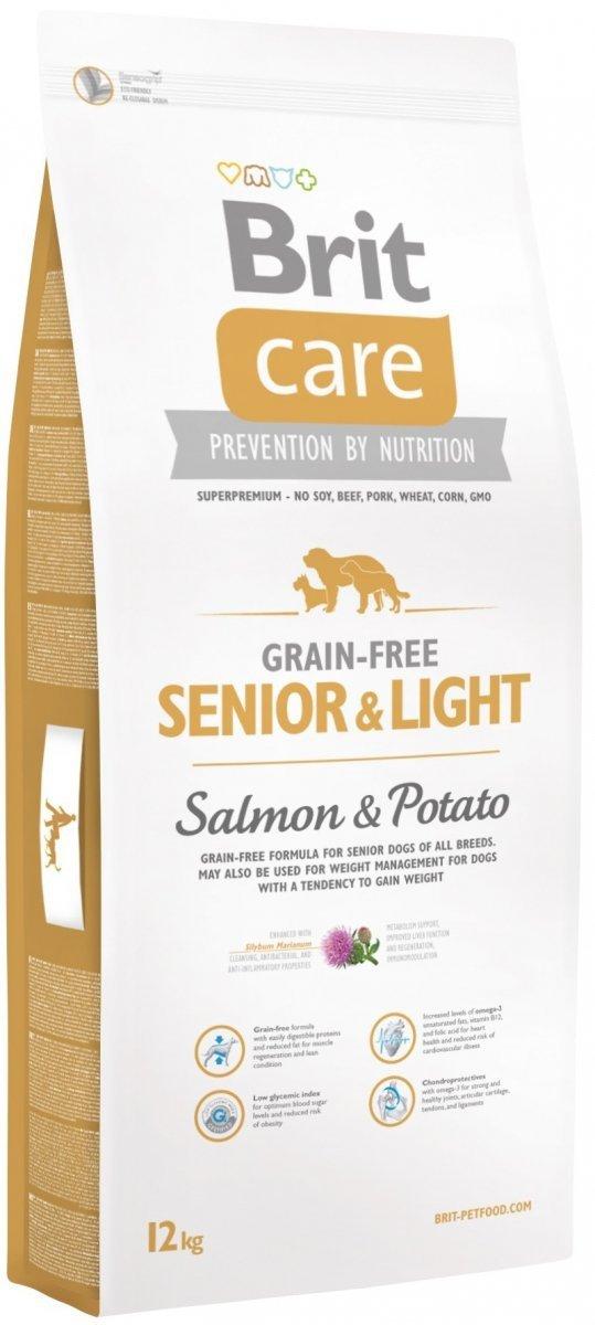 Brit Care Grain Free Senior & Light Salmon 35% & Potato - karma bezzbożowa 12kg