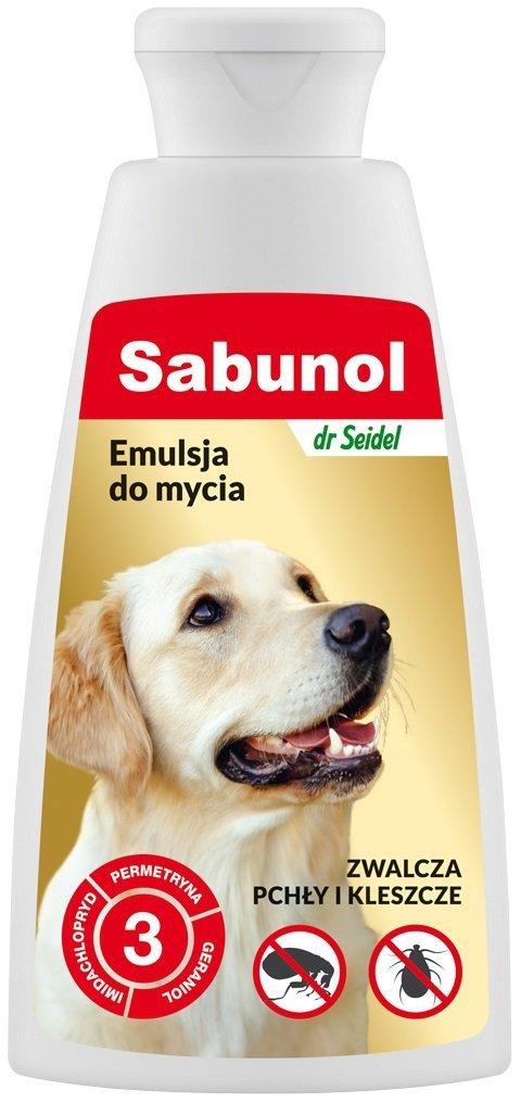 Sabunol Emulsja do mycia przeciw pchłom i kleszczom 150ml