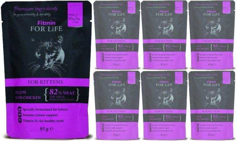 Fitmin Cat For Life Kitten Chicken 24x85g
