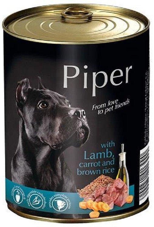 Piper z jagnięciną i marchewką z ryżem 24x400g