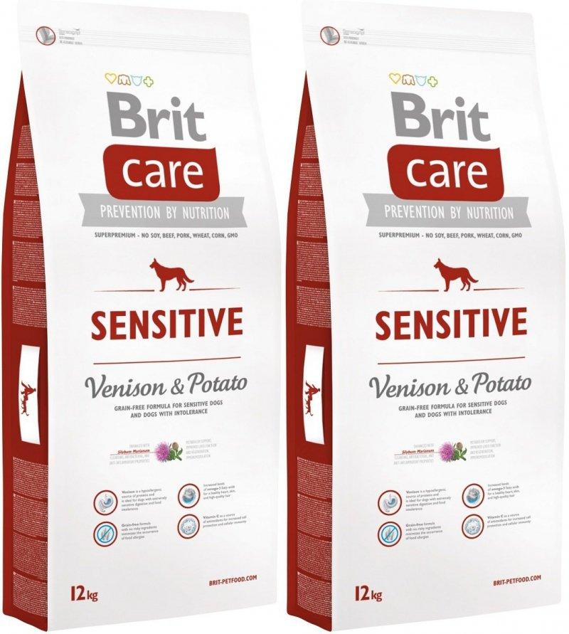 Brit Care Sensitive - Venison & Potato 2x12kg (24kg)