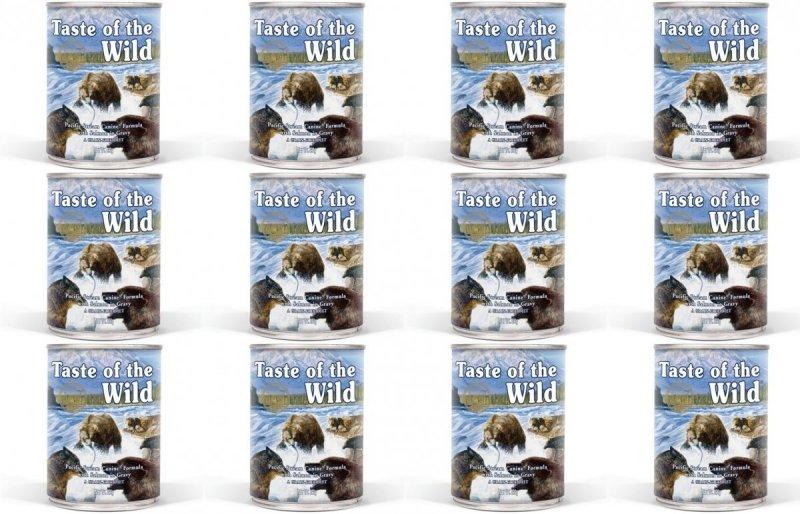 Taste of the Wild Pacific Stream - mokra karma dla psów 12x390g
