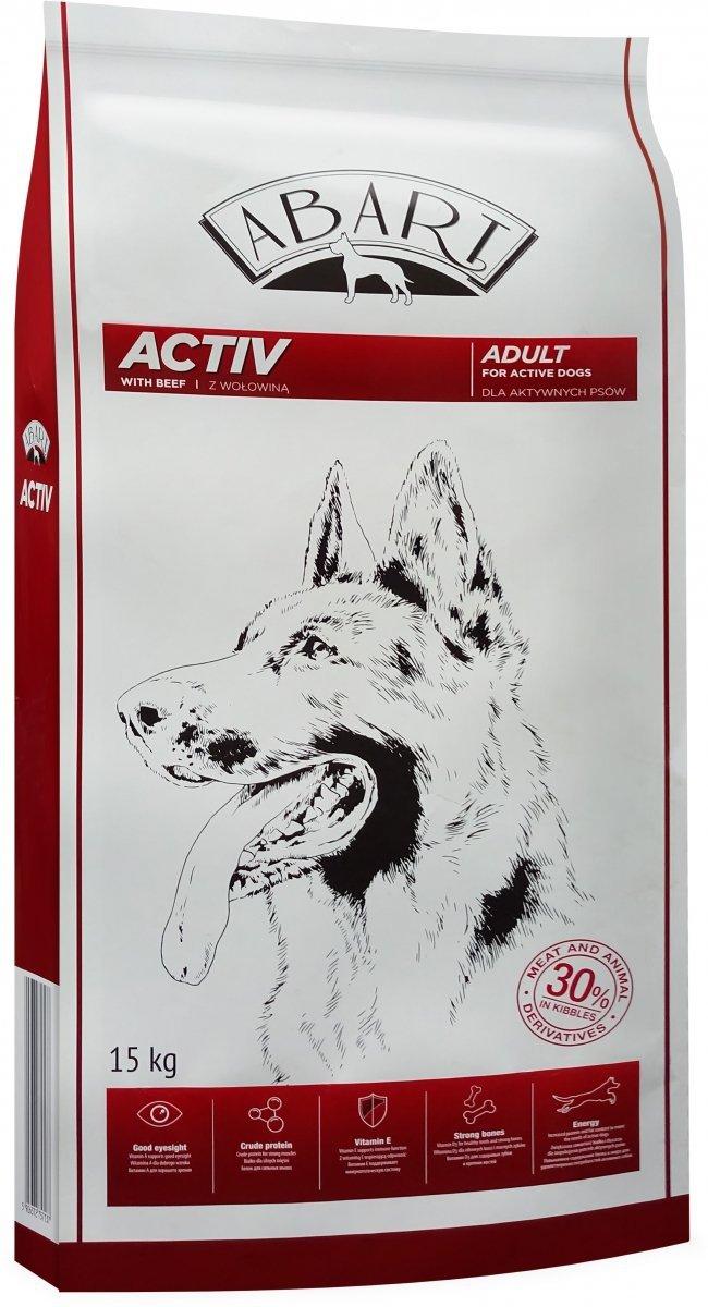Abart Dog Activ with Beef  30% Meat- Pełnoporcjowa karma dla psów aktywnych z wołowiną 15kg