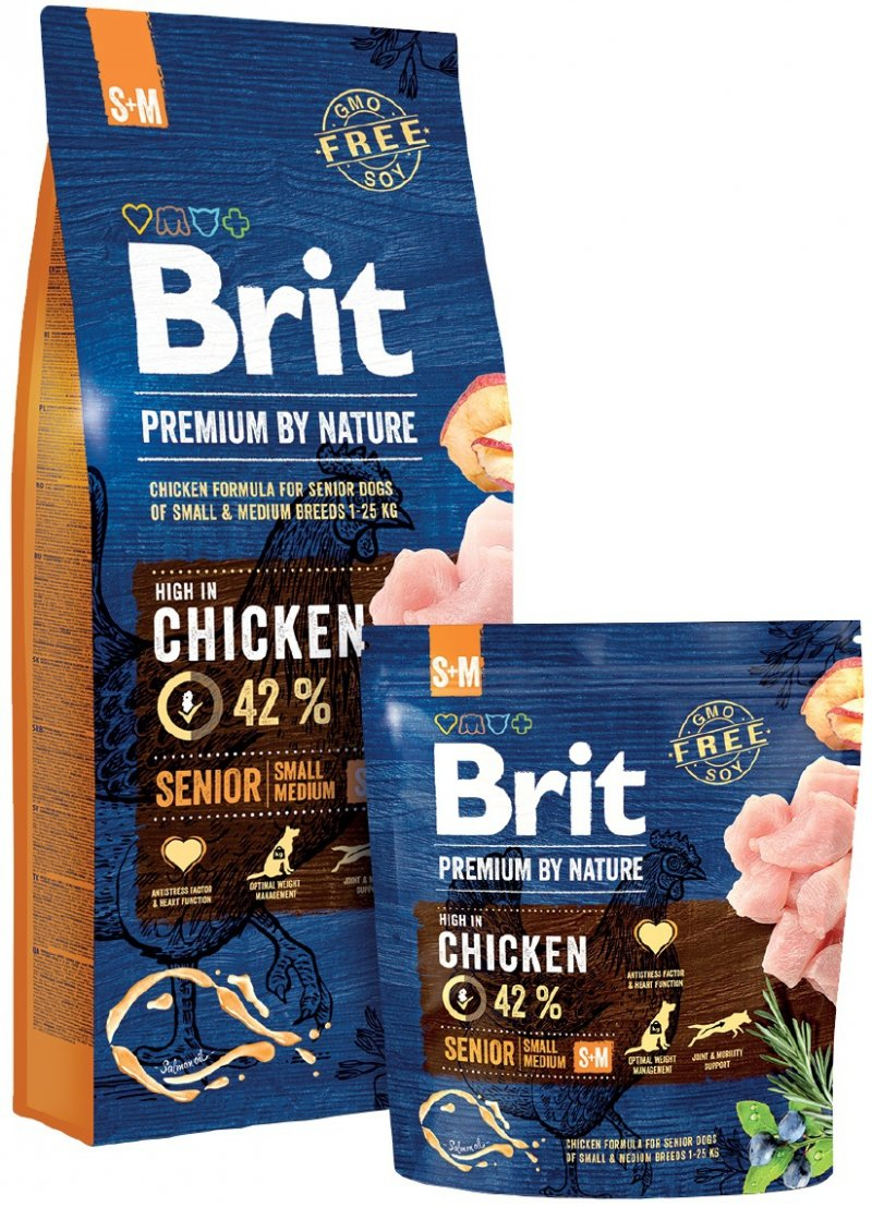 Brit Premium By Nature Small & Medium Senior 15kg