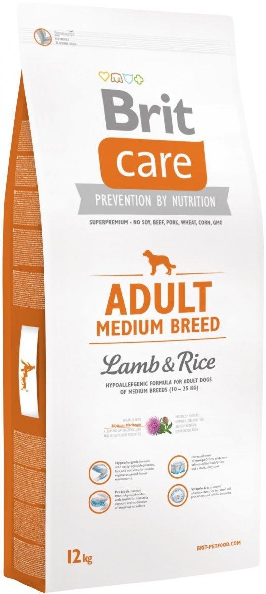 Brit Care N Adult Medium Breed Lamb & Rice 12kg