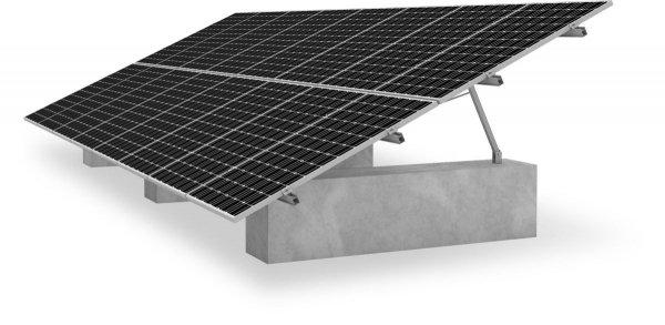 K2 A-Rack 15/20/25o, 1,3 kN, ogrodowe zestawy montażowe dla 16 modułów