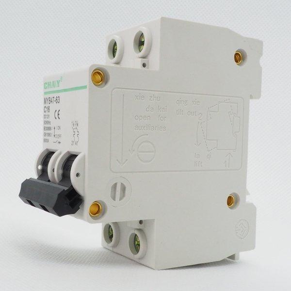 Wyłącznik nadprądowy 2P C 16A 6kA 12V DC MYB47-3