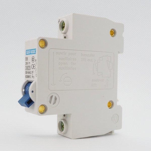 Wyłącznik nadprądowy 2P B 6A 4.5kA 250V DC