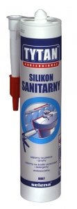Silikon sanitarny biały 310ml TYTAN Profesional