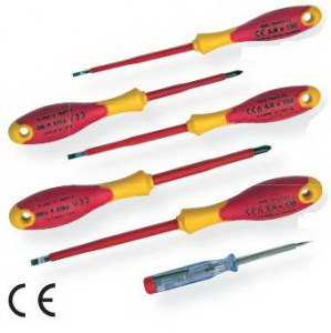 Wkrętaki elektrotechniczne 1000V 6szt Komplet