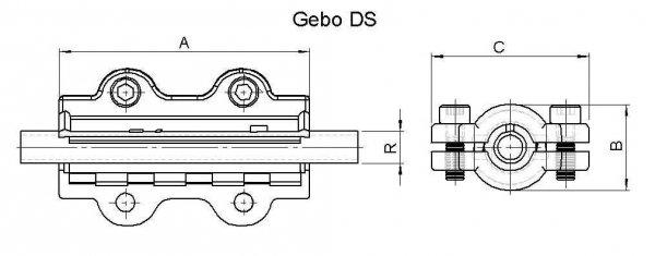Obejma naprawcza DS długa DN50