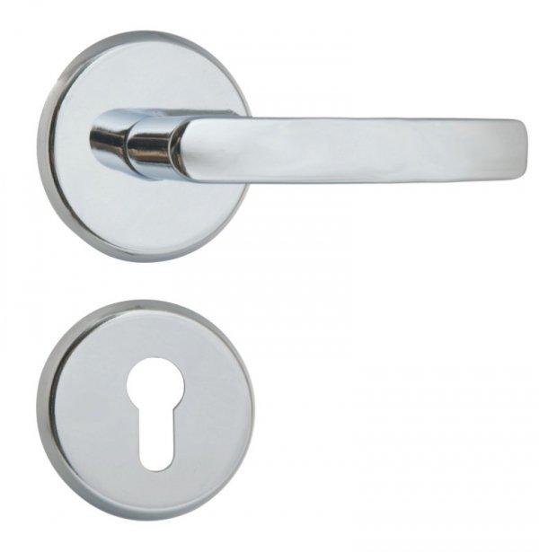 Klamka drzwiowa LOB MK202 chrom połysk