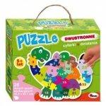 Dinozaur. Puzzle dwustronne 26 elementów