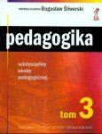Subdyscypliny wiedzy pedagogicznej. Pedagogika, tom 3