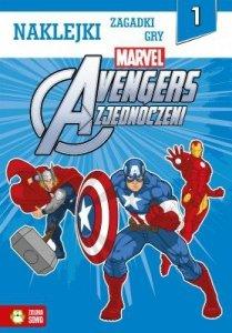 Avengers zjednoczeni - naklejki, zagadki, gry (1)