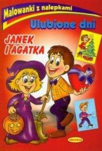 Ulubione dni Janek i Agatka. Malowanki z nalepkami