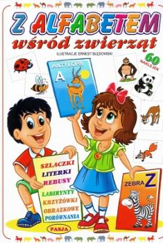 Z alfabetem wśród zwierząt. 60 naklejek