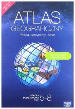 Atlas geograficzny dla klas 5-8 szkoły podstawowej. Polska, kontynenty, świat