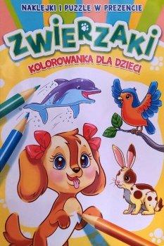 Zwierzaki. Kolorowanka dla dzieci