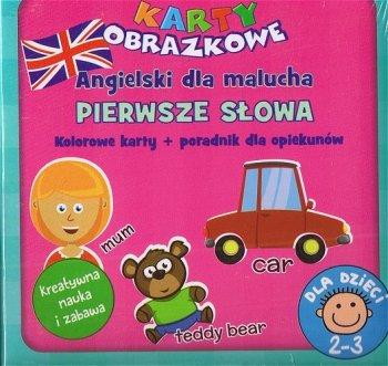 Angielski - pierwsze słowa. Książeczka + karty obrazkowe  (wiek 2+)