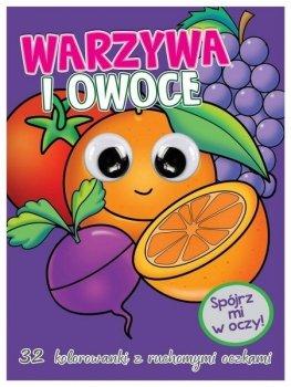 Warzywa i owoce. Kolorowanka z oczkami