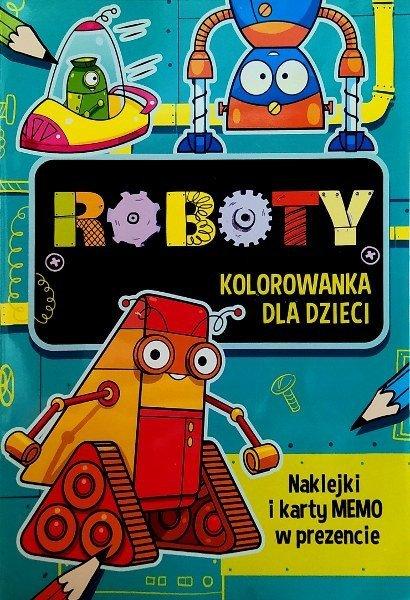 Roboty. Kolorowanka z naklejkami dla dzieci