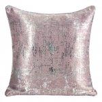 Poszewka Dekoracyjna ESIN Różowa+Srebrna 40X40 Eurofirany
