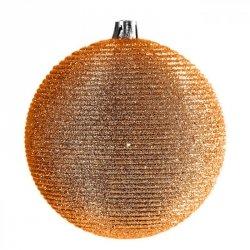 Bombka świąteczna NANCY 2-10 10CM Pomarańcz