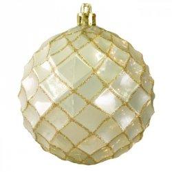 Bombka świąteczna TAMARA 2-2 10CM Złota