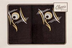 Ręcznik RICKY Grafitowo Srebrny
