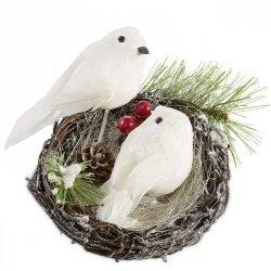 Ozdoba świąteczna NEST 3-1 18CM Ptak