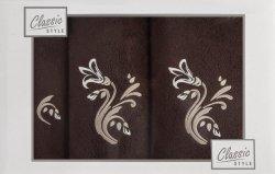 Komplet ręczników APRIL 04 3 Brązowo Beżowy