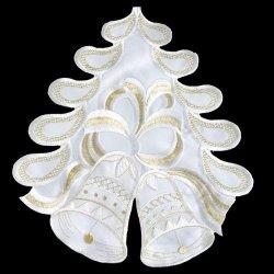 Obrus BONITA Świąteczny 30 Kremowo Złoty