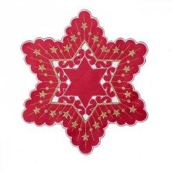 Obrus MAJOLA Świąteczny 30 Czerwony