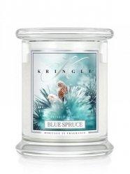 Kringle Candle - Blue Spruce - średni, klasyczny słoik (411g) z 2 knotami