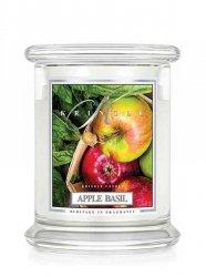 Kringle Candle - Apple Basil - średni, klasyczny słoik (454g) z 2 knotami
