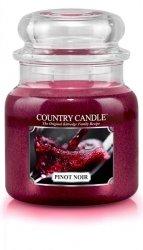 Country Candle - Pinot Noir - Średni słoik (453g) 2 knoty