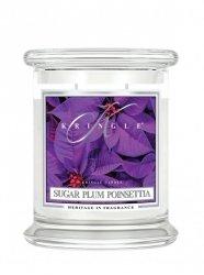 Kringle Candle - Sugar Plum Poinsettia - średni, klasyczny słoik (411g) z 2 knotami