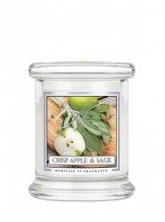 Kringle Candle - Crisp Apple & Sage - mini, klasyczny słoik (128g)