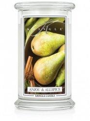 Kringle Candle - Anjou & Allspice - duży, klasyczny słoik (623g) z 2 knotami