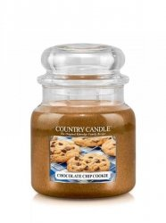 Country Candle - Chocolate Chip Cookie -  Średni słoik (453g) 2 knoty