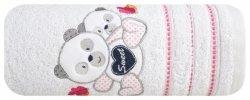 Ręcznik kąpielowy dla dziecka 70x140 biały+różowy