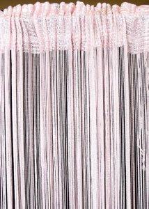 Firana SPAGETTI 5 90X280 Blado-różowy
