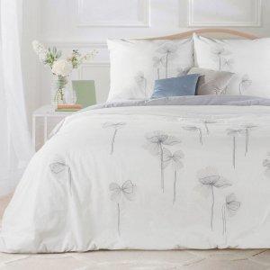 Pościel CORNELIA 160X200 Biały Kwiaty Eurofirany