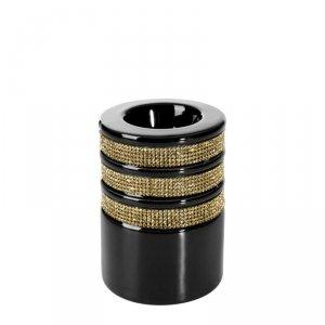 Świecznik OSKAR2 7.5X7.5X10 Czarny+Złoty