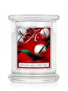 Kringle Candle - Jingle All The Way - średni, klasyczny słoik (411g) z 2 knotami