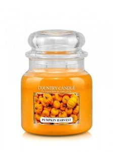 Country Candle - Pumpkin Harvest -  Średni słoik (453g) 2 knoty